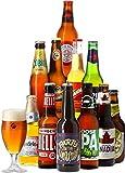 Coffret Autour Du Monde - Pack de 11 bières (33 à 37,5 cl) et 1 verre de 25 cl - Idée Cadeau