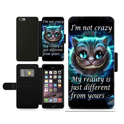 OKO Alice nel paese delle meraviglie I'm not pazy Cheshire Cat Inspired - Custodia a portafoglio in similpelle (iPhone 6 Plus e 6S Plus)