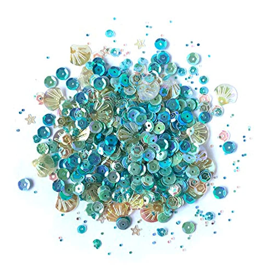 Buttons Galore and More Seaside Holiday Sequin Tin