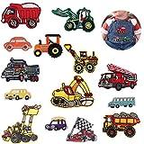 Sunshine smile 14pcs aufnäher Kinder,Patch Sticker Cars,Zum Aufbügeln für DIY,Applikation Flicken Zum Aufbügeln,Patches zum Aufbügeln,Jeans Kleidung Patches,Patch Sticker,Patch Sticker Kleidung