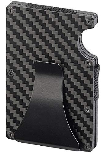 Xcase Kreditkartenetui Carbon: RFID-Kartenetui aus Carbon, Schutz für 15 Chip-Karten, mit Geldklammer (Cardholder)