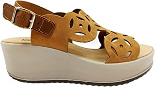 Sandali donna IGIeCO 7164522 scarpe zeppa casual comoda plateau pelle platform