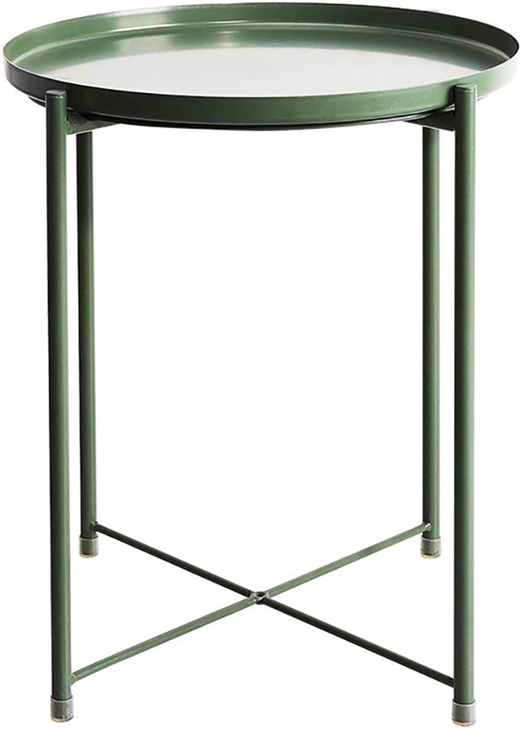 Bedside Table Wrought Iron Round Living Room Sofa Parlor Round Side Table Bedside (color   B)