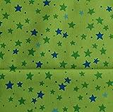 Sterne Grün BIO-Baumwollstoff kbA Westfalenstoffe * Junge