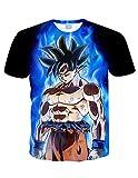 Camiseta Dragon Ball Niño Unisex 3D Impresión Hombres Mujer Camisetas y Camisas Deportivas Camisetas de Manga Corta Dibujos Animados de Fans Streetwear T Shirt Camisetas de Verano (TXU-111, M)