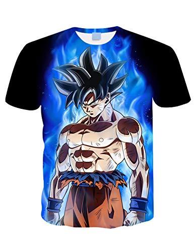 Camiseta Dragon Ball Niño Unisex 3D Impresión Hombres Mujer Camisetas y Camisas Deportivas Camisetas de Manga Corta Dibujos Animados de Fans Streetwear T Shirt Camisetas de Verano