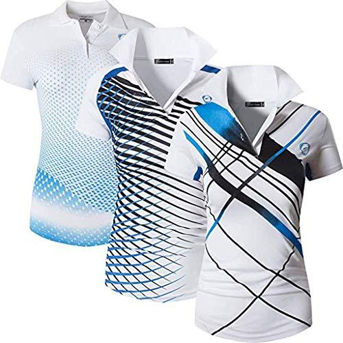 jeansian Damen Sportswear Quick Dry Short Sleeve Polo T-Shirt SWT251 PackG S
