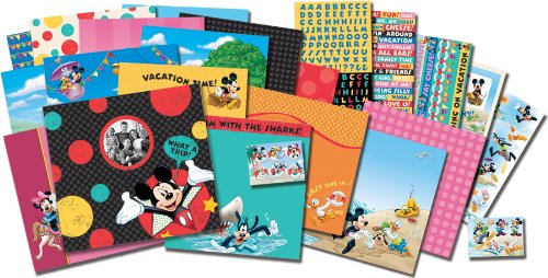 EK Success Brands Disney Scrapbook Kit, Mickey Travel |