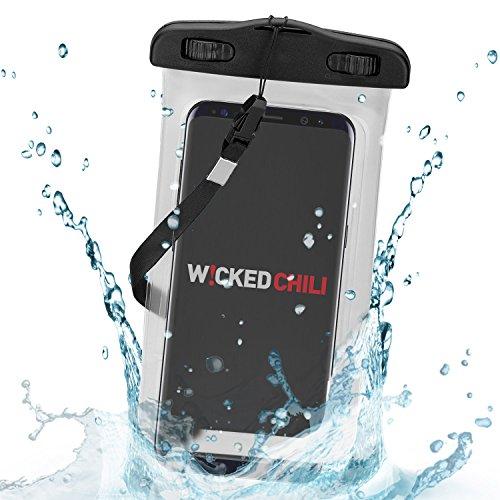 Wicked Chili Beach Bag für Samsung Galaxy S5, S4, S3, Note 3, S4 mini, S3 mini, Motorola Moto G, Moto X, Sony Xperia Z2, Z1, M2, E1, Nokia XL, X, Lumia 1020, 1320, LG L90, L70, GD 955 G Flex, G2 mini, Huawei Ascend G6, P7 mini, Y530, Doro Liberto 810, iPhone 5S, 5C, 5, 4S, 4, HTC One, One mini - wasserdichte Schutzhülle (4.0, 5.0, 5.2