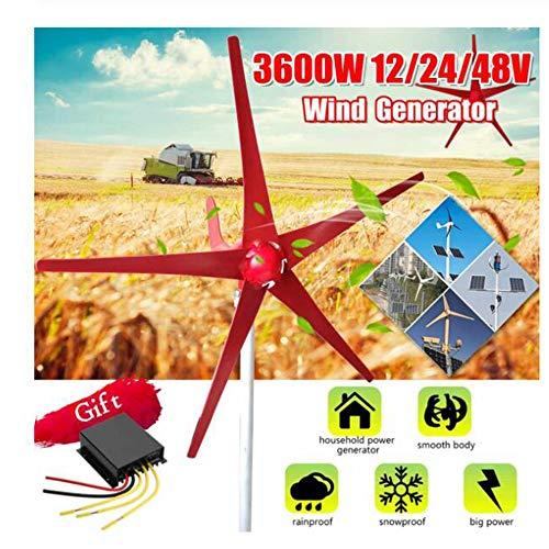 SISHUINIANHUA 3000W Windenergie, Elektrizität Generator 12V / 24V 5 Windklingen Horizontal Windgenerator mit Steuerpult Windturbinen Klinge,48v