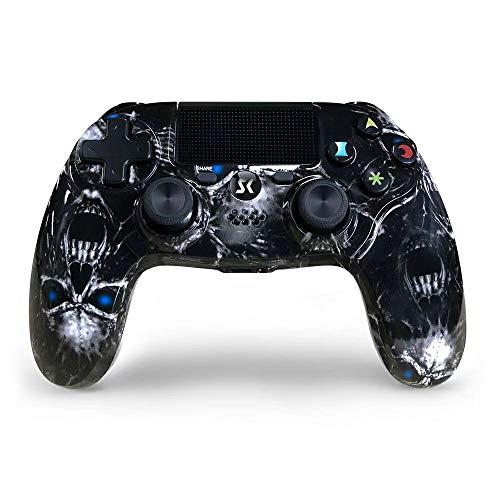 JL FUTURE PS4 Controller Wireless Space Schwarz Hochleistungs Gaming Controller DS4 Double Vibration Gamepad für Playstation 4/Slim/Pro (für Playstation 4, Schwarz)