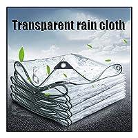 防水ターポリン ガラスクリアターポリン、 透明なガーデンシェードクロス 多目的アンチティアタープ 緊急雨よけ カスタマイズ可能な屋外パティオ用 (Color : Clear, Size : 4X8M)