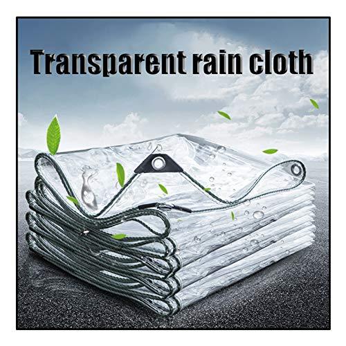 JJXL Glass Clear Tarpaulin, Transparent Garden Shade Cloth Multi-Purpose Anti-Tear Tarp Emergency Rain Shelter For Outdoor Patio Customizable (Color : Clear, Size : 3X3M)