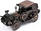 QBOSO Metal Antique Vintage Car Model Handcrafted Collections Collectible Vehicle Toys for Bar or Home Decor...