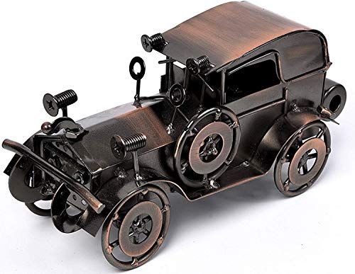 QBOSO Metal Antique Vintage Car Model Handcrafted Collections Collectible Vehicle Toys for Bar or Home Decor Decoration Great Birthday Gift Bronze Classic Car Model, Large