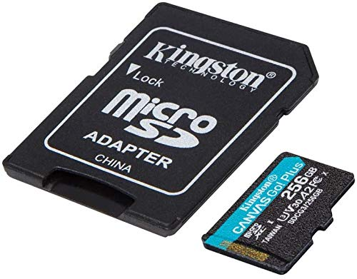 Kingston GO! Plus Works for DJI Matrice 200 Series 256GB MicroSDXC Canvas Card Verified by SanFlash. (170MBs Works with Kingston)