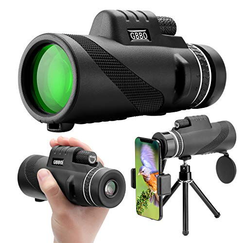 40X60 Monocular Telescope, High Definition Monocular for Adults and Kids with Smartphone Holder & Tripod, Monocular with High Power Prism and Dual Focus Scope for Bird Watching, Camping, Hiking