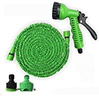 Eahthni 50ft Strongest Expanding Garden Hose with Extra Strength Fabric Protection for All Your Watering Needs Improved Design(Green)
