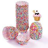 Nuluxi Mini Pirottini di Carta per Muffin Avvolgi Muffin Decorativi Cupcake Coppetta di Carta Torta Rivestimento Pirottini Accessori per la Cottura per Uso Domestico, Feste, Matrimoni e Compleanni
