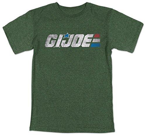 G.I. Joe Retro Logo Adulto Heather Green Camiseta