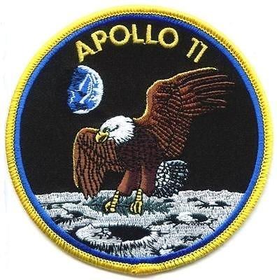 Apollo NASA 11amarillo frontera bordado insignia