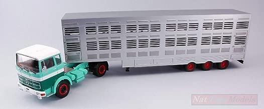 NEW IXO Model TTR008 Mercedes LPS 1632 Green/Beige 1970 Cow Transporter 1:43 Model