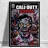 LGXINGLIyidian Carteles E Impresiones Call Duty Black Ops Zombies Game Poster Wall Art Picture Canvas Painting Modern Decoration Uo1218 40X50Cm