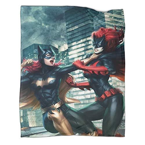 Xaviera Doherty Batwoman DC Superhero Comics Gotham Activity - Manta de regalo (100 x 130 cm), color blanco