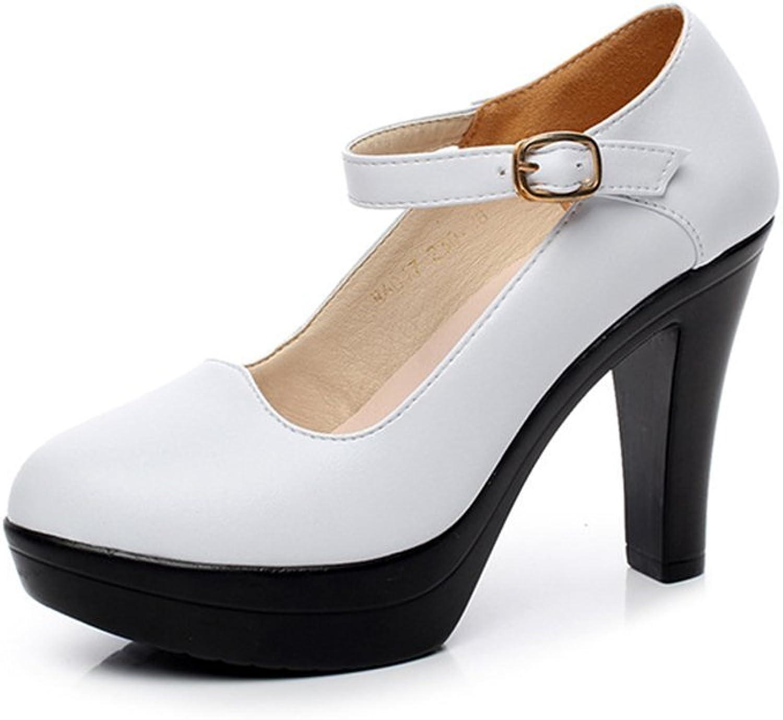 Bon Soir Womens Strap Open Toe Heel Platform Sandals Mary -Jane shoes
