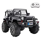 VALUE BOX Luxury Large Ride On Truck, 12V Battery Electric Kids Toddler Motorized Vehicles Toy Car...
