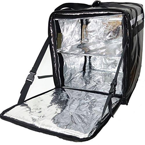 PK-76BB: Rugzak Levering tas voor fiets koerier, Versterkte Pizza Levering tas met beste prestaties, gemakkelijk voor reiniging en waterdicht, voedsel levering apparatuur, thermische levering tassen, 16