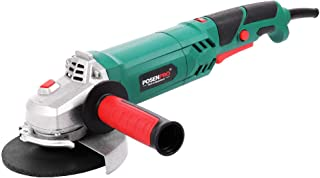"""Sponsored Ad – POSENPRO 1100W Angle Grinder with 125mm/5"""" Grinding Disc, Side Handle, Safety Guard, Variable Speed 3000-12..."""