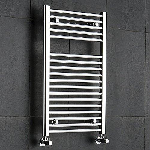 Hudson Reed Ischia Designer Handdoekradiator Chroom 80cm x 50cm x 3cm 312 Watt