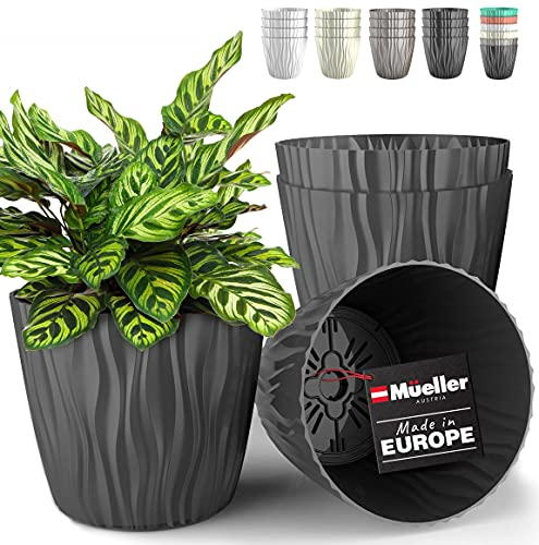 Mueller Plant and Flower Pot 4/1 Set, Heavy Duty 12 Inch European Made Stylish...