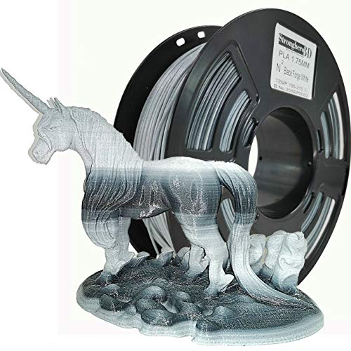 Stronghero3D PLA 3D Printer Filament 1.75 mm N2 1 kg Accuracy +/- 0.05 mm for CR10 Ender3 (Galaxy Black/Marble White)