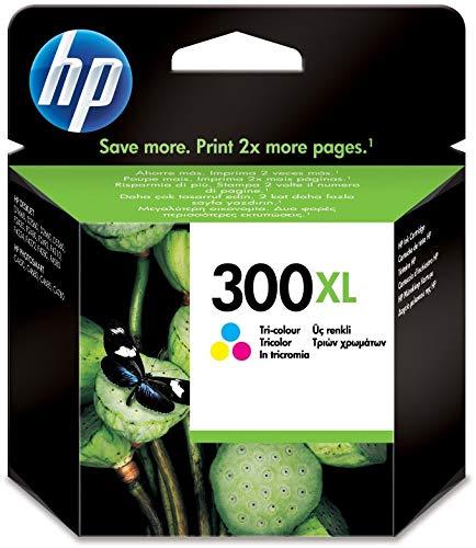 HP 300XL CC644EE Cartuccia Originale, Compatibile con le Stampanti a Getto d'Inchiostro DeskJet D2560, D2660, F4280, F4224, F4283 e Photosmart Serie C, Tricromia