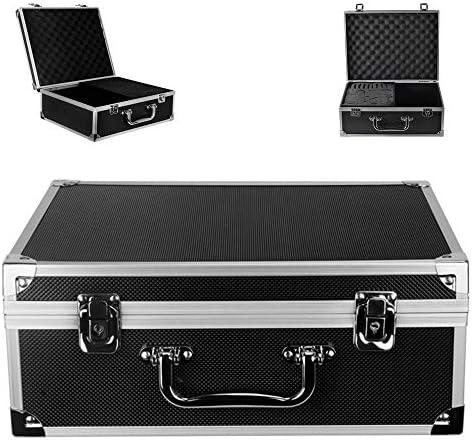 Tattoo Kit Box Yuelong Tattoo Machine Case Box 12 6 x 9 5 x 5 1 W Lock Key Aluminum Makeup Carry product image