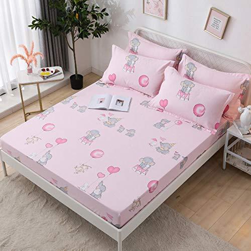 HPPSLT Unterbett Soft-Matratzen-Topper, Matratzenschutz Boxspring-Betten geeignet Das Bettlaken Baumwolldruck staubdicht-21_1.2x2.0m