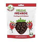 Freche Freunde Bio Fruchtgummi Erdbeere, Frucht Snack ohne Zuckerzusatz, mit 98 % Fruchtanteil,...