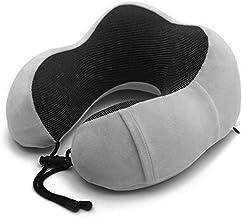 DQQSZWQ Almohada Cuello Almohada para El Cuello De Viaje Kit De Viaje para Avión Dormir conAlmohada En U para ElCuello De Espuma De Memoriapara Proteger Su Cuello, Darkgray