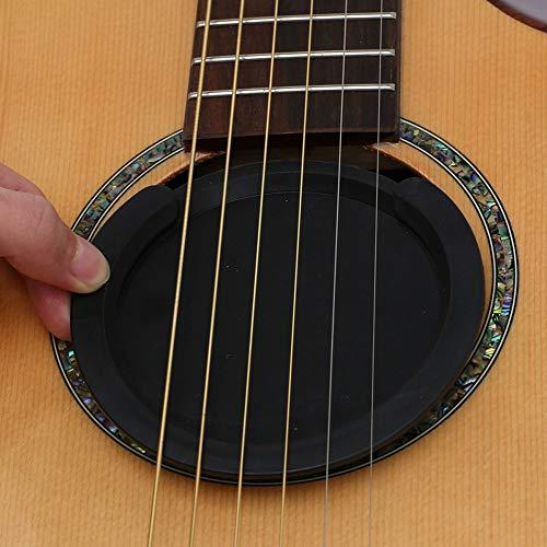 Gitarre Schallloch Abdeckung, Schalllocheinsatz aus weichem Gummi verhindert störendes Feedback schwart für Akustische Klassische Gitarre 38