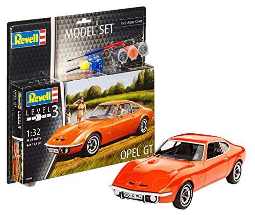 Revell Maqueta de Auto 1: 32–Opel GT en Escala 1: 32, Nivel 3, réplica exacta con Muchos Detalles, Juego, Model con Base Accesorios, 67680