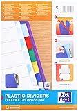 Oxford 400013939 Kunststoff-Register Strong-Line blanko 10-teilig für DIN A4 Plastikregister
