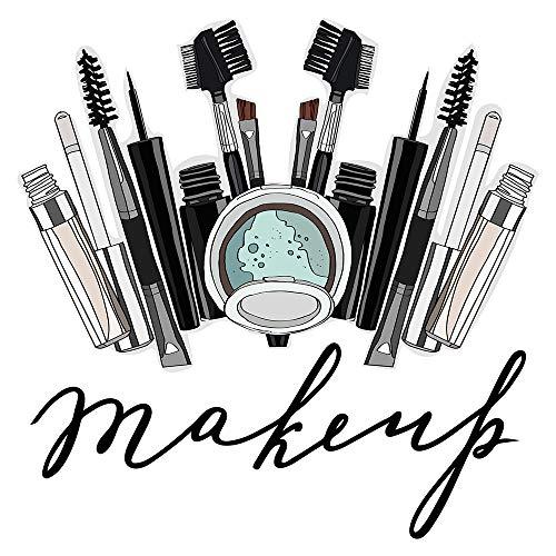 dekodino® Wandtattoo Beauty Make up Palette Wandsticker Deko
