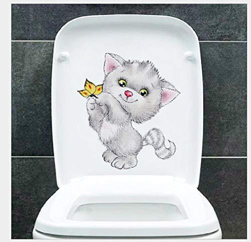 Pegatinas De Pared Pegatinas Xpress De Animales De Dibujos Animados De Gatos Realistas De Tamaño Pequeño, Pegatinas De Inodoro Para Inodoro, Pegatinas Para Nevera