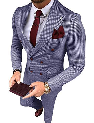 Hanayome Men's 2 Piece Tuxedo Suit - Includes Jacket and Pants SI5£¨DarkBlue,36S