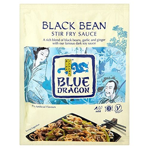 Blue Dragon NEW before selling ☆ Black Bean Stir Super beauty product restock quality top! Sauce Fry by 120g