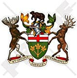 ONTARIO Province Greater Coat of Arms Badge Crest CANADA Canadian 100mm (4') Vinyl Bumper Sticker, Decal