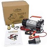 Pompa BIO Olio Diesel ASPIRAZIONE TAGLIANDO Auto Motore GASOLIO 12V 160W Portatile TRAVASO Liquido 40 LT/MIN in Metallo con PINZE Corrente E Accessori