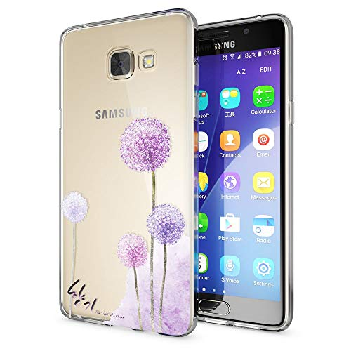 NALIA Handyhülle kompatibel mit Samsung Galaxy A5 2016, Slim Silikon Motiv Case Hülle Cover Crystal Dünn Durchsichtig Etui Handy-Tasche Backcover Transparent Phone Bumper, Designs:Dandelion Pink